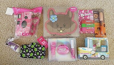 LOT Girl's Claire's Lip Balm, Reusable Camera, Earring Holder & MORE ~FREE SHIP~