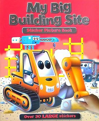 My Big Building Site | Sticker Picture Book | 30 Large Stickers | Age 3+ | New