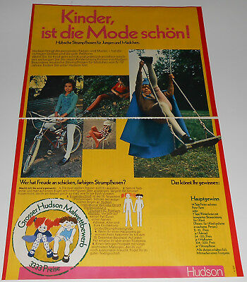 1971 vintage print ad - LITTLE BOYS GIRLS TIGHTS - GERMANY 2-PAGE AD diapers