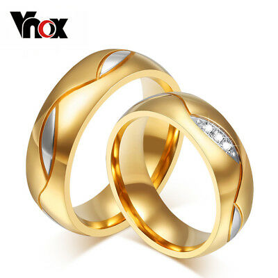 10pcs/lots Wholesale CZ couple ring for women men stainless steel wedding jew...