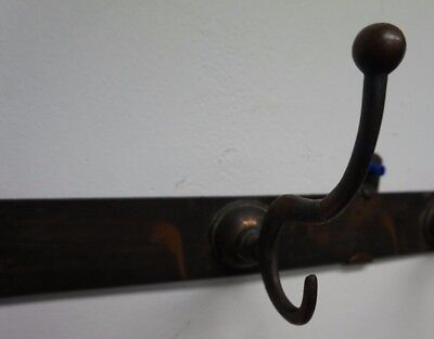 Arts and Crafts Vintage Antique Copper Wash Wall Coat Hat Rack Hook