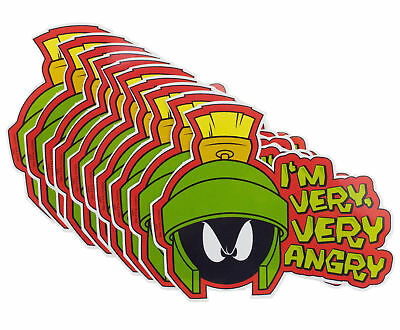 10 x Looney Tunes Marvin The Martian Official Warner Bros Vinyl Stickers
