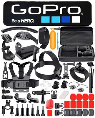 50-in-1 Accessories Kit For GoPro Hero Session 1/2/3/4/5 Camera Black Silver New