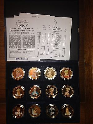 Princess Diana Of Wales presentation case with 12coins