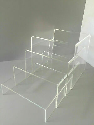 High Quality Acrylic Display Risers / Bridges / Plinths Pack of 2