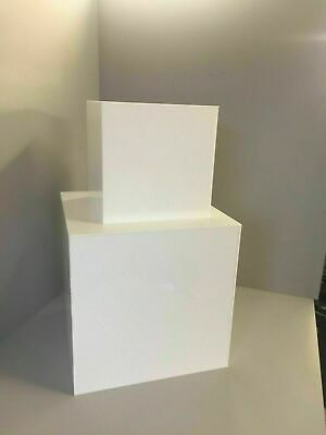 Acrylic Display cubes 5 Sided open 1 end Black or white