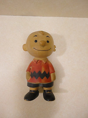 "Vintage  7.5""  Peanuts Charlie Brown Vinyl Figure United Feature Syndicate"
