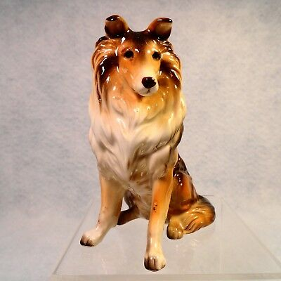 COLLIE COLLECTOR ESTATE SALE Vintage NAPCOWARE porcelain brown Collie figurine