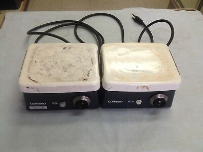 """Lot of 2 Corning PC-35 Laboratory Hot plate 7.5"""" x 6"""" Tested Working"""