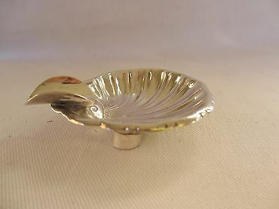 Terrific Little Taxco Mexico Sterling Silver Shell Cigarette Tobacco Ashtray