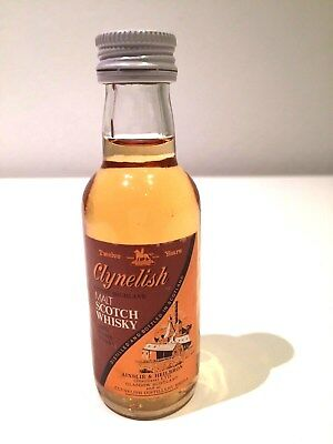 Clynelish Scotch Whisky 12 Years Old Rare 1980's Miniature