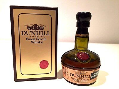 Dunhill Old Master Finest Scotch Whisky Rare 1970's Miniature with Box