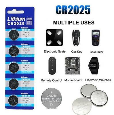 5 Pcs/Set 3V Coin Button Cell Battery Watch Batteries For Sony CR2025 CR 2025
