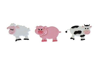 FMM Farmyard Animal Motif Design Cake Decorating Tappit Cutter FREE DELIVERY
