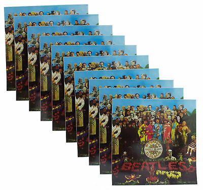 10 x The Beatles Sgt Peppers Album Official Apple Corps Band Vinyl Stickers