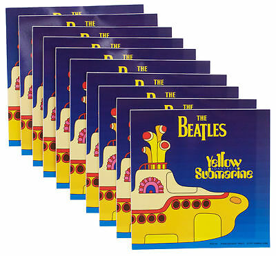 10 x The Beatles The Yellow Submarine Album Official Band Vinyl Stickers