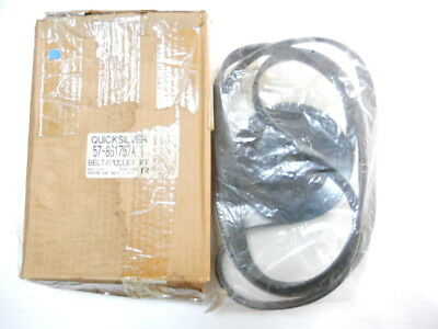 Genuine Mercury Mercruiser Serpentine Belt & Pulley Kit 57-861757A1 4.3, 5.0, 5.
