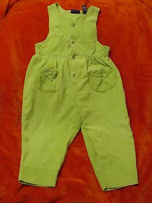 Cute Green Corduroy Toddler Jumpsuit Romper by The Place size XXL 30-36 M (3T)