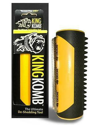 King Komb - Revolutionary 3 Blade Brush with Rubber Bristles for Shedding Dogs