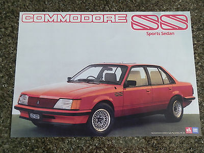 1983 Holden Ss Commodore Sales  Brochure (Brock/hdt). 100% Guarantee