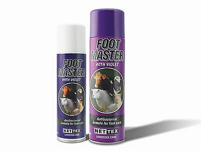 Nettex Footmaster Antibacterial Cattle/Sheep Hoof Spray - Foot Rot - 250ml/500ml