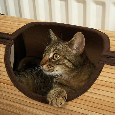 Cat Bed Radiator Bamboo Cosy Place to Hide Away Sleep Catnap Removable Cushion