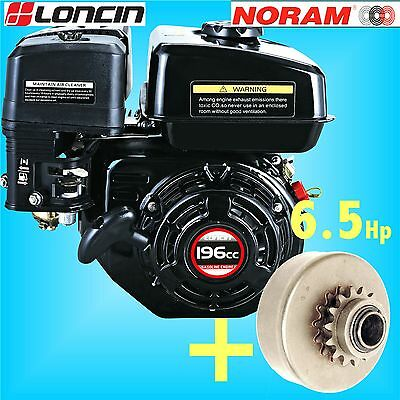 Loncin G200F-P 6.5Hp Go Kart Engine + NORAM MAGNUM CLUTCH replaces Honda GX200