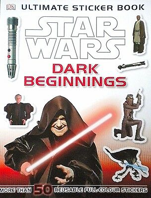 Star Wars | Dark Beginnings | 50 Reusable Colour Stickers | Children's Book |New