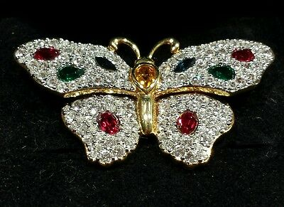 Swarovski Schmetterling Butterfly Brosche Brooch retired RAR