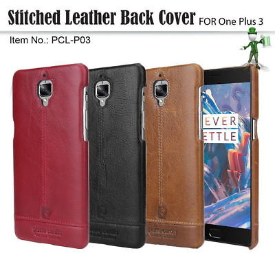 Pierre Cardin Genuine Leather Cover Hard Back Case For One Plus 3/3T OnePlus3/3T