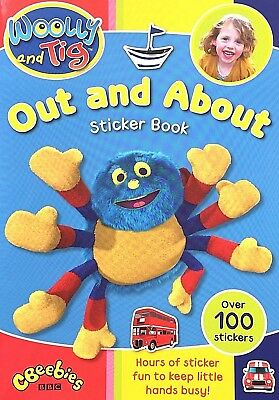 Woolly and Tig | Out and About | 100 Stickers | Children's Book | Cbeebies | New
