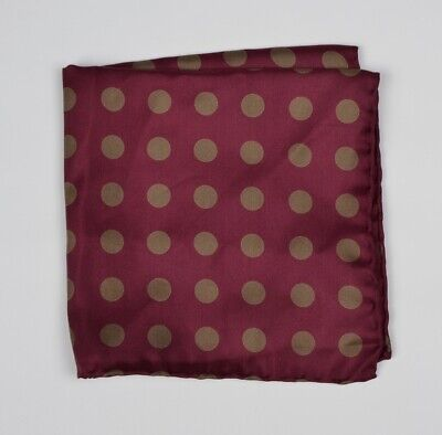 Anonymous Einstecktuch Pocket Square Seide Silk Rot Red Polka Dot Punktmuster