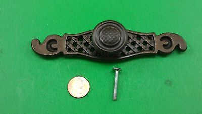 1 Antique Vintage Bronze Dresser Drawer Round Handle/pull With Support Point