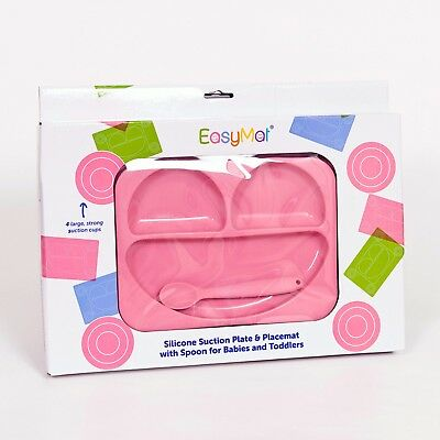 EasyMat®  Baby Suction Plate and Placemat In One (Pink)