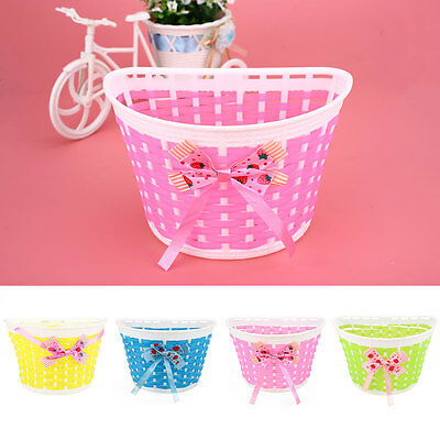 Bicycle Panniers Bike Bowknot Front Shopping Basket For Children Kids Girl