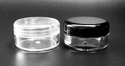 10ml Clear Empty Nail Art Pots, jars, containers for crafts,beads, cosmetics