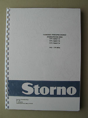 Stornophone 5000 - Storno CQM5110  2m VHF-Band Service Handbuch - TOP Zustand !