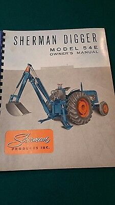 sherman backhoe manual