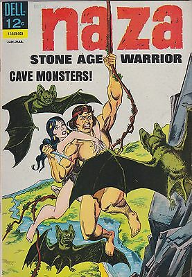 Naza, Stone Age Warrior #5 (Jan-Mar 1965, Dell) Cave Monsters!