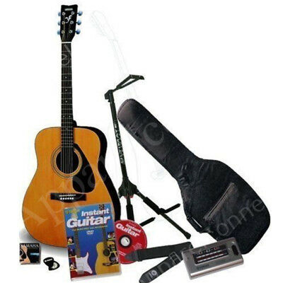 Yamaha F310 Natural Finish Acoustic Guitar + Padded Bag + Stand + Plectrums+DVD