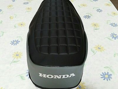 HONDA CB200T 1974- 1976  REPLACEMENT SEAT COVER 2 color bkack&gray (H166--n11)