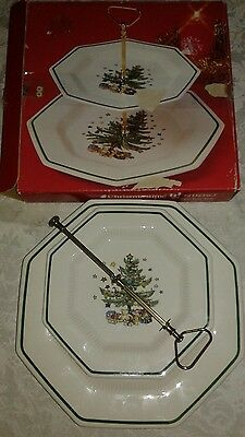Nikko Christmastime Two Tiered Serving Set