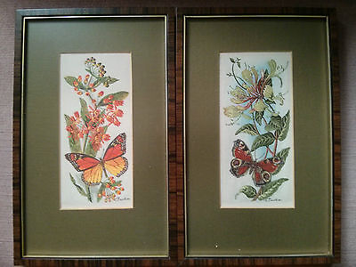 Two woven pictures in silk and rayon, J. & J. Cash Ltd., Coventry, England