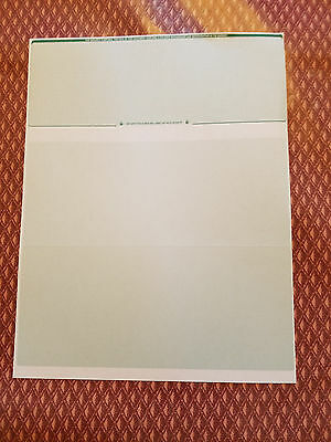 Computer Check Paper Blank Stock On Top Green Diamond 50 Count