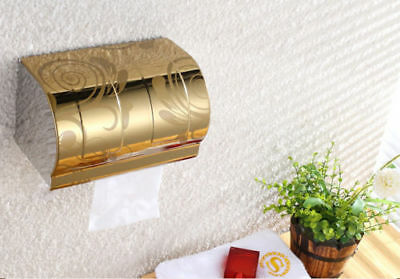 2pcs Wall Mounted Bathroom Toilet Stainless Steel Paper Holder Roll Tissue Box
