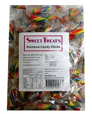 Rainbow Candy Sticks Rock Candy