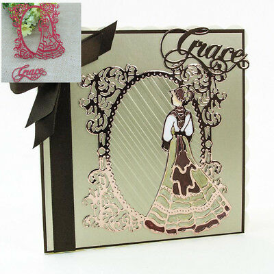 Lace Lady Grace Metal Cutting Dies Stencil Scrapbooking Card Paper Embossing DIY