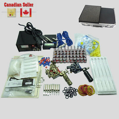Professional Complete Tattoo Kit 40 Color 2 Top Machine Gun Ink 50 Needle