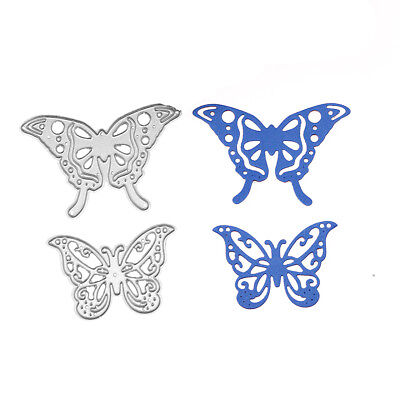 2 pcs Butterfly Cutting Dies Stencil Embossing DIY Scrapbooking Paper Card Craft