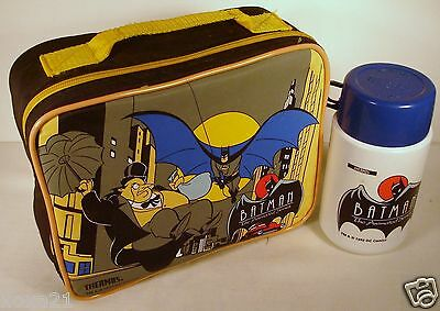 1993 issue unused Batman soft Vinyl  Lunchbox and thermos